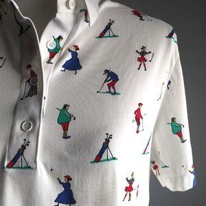 David Smith | Women Golfer Pattern | Polo Shirt